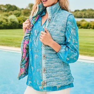 NWT Lilly Pulitzer Noella Puffer Vest w/gemstones